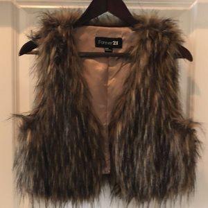 Fur Vest Size M